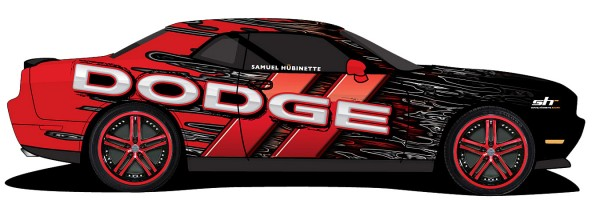 1st rendering of Hubinette Racing Dodge Drift Challenger
