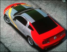 """(Tuskegee Airmen WWII P51 """"Red Tail Mustang & TCR Ford Mustang """"Red Tail"""" Drift Car Concept)"""