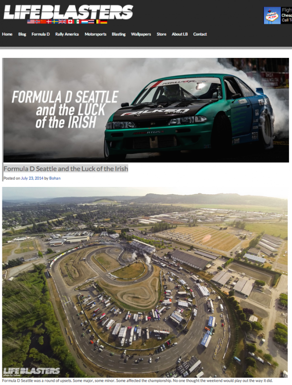 Life Blasters - Formula D Seattle and the Luck of the Irish