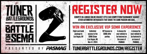 PASMAG Tuner Battlegrounds - 2014 Battle for SEMA - Cover Photo