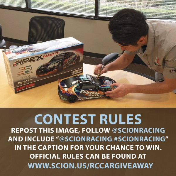 Scion Racing KG RC Giveaway FINAL