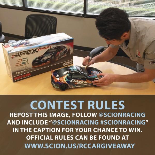 Scion Racing KG RC Giveaway FINAL