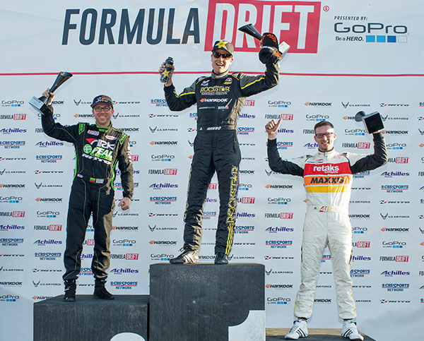 Formula Drift Round 1 Podium Long Beach