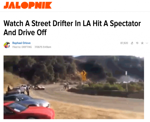 Watch A Street Drifter In LA Hit A Spectator And Drive Off
