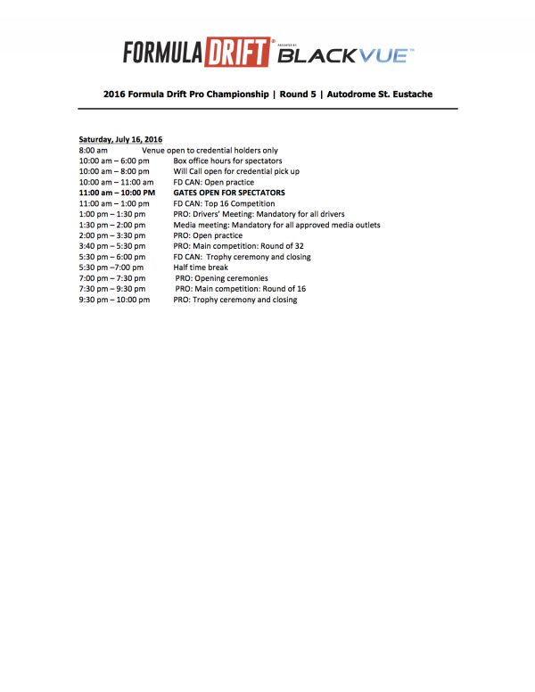 FD Canada Revised Sat Schedule