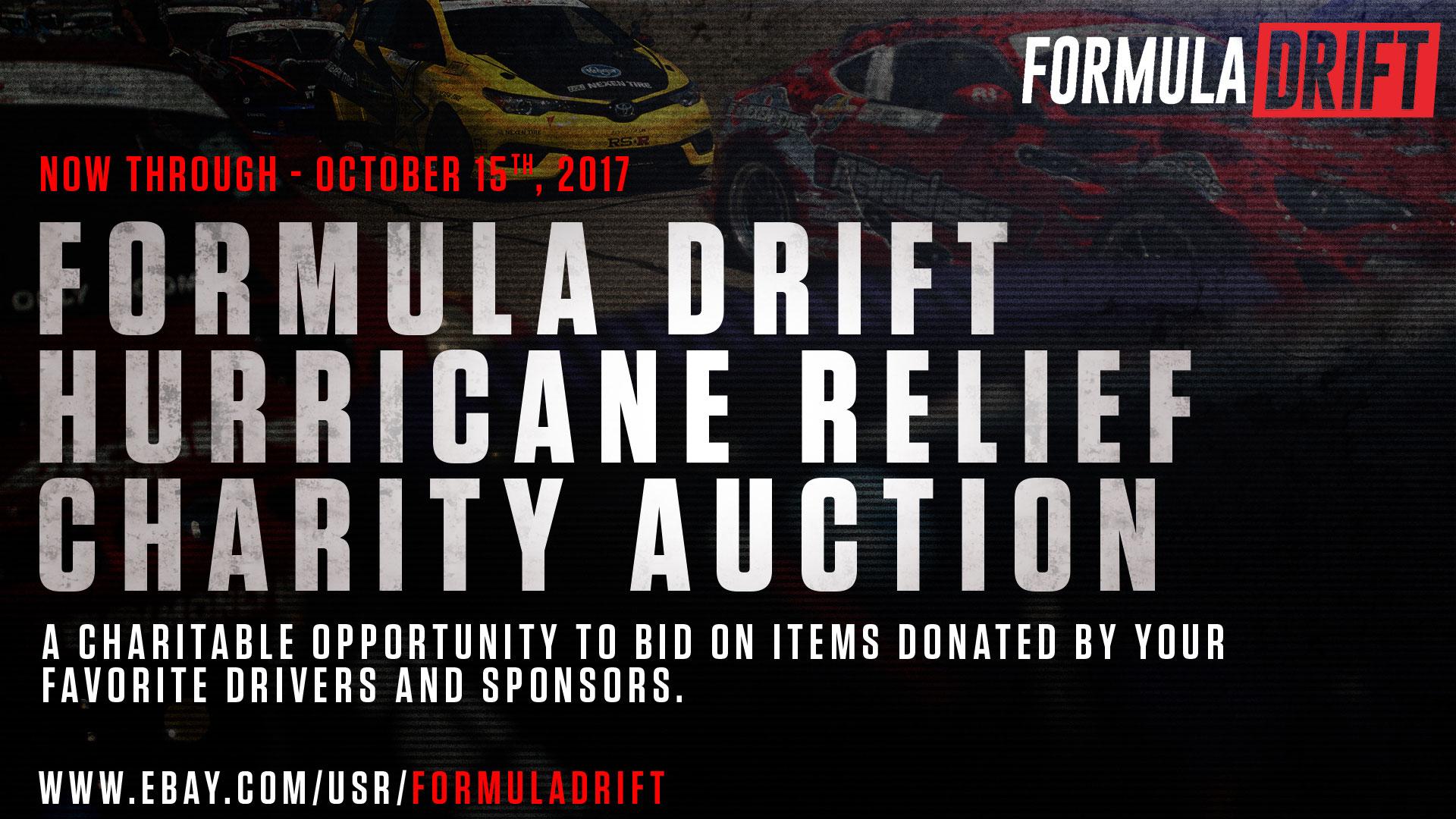 Formula DRIFT Hurricane Relief Charity Auction – Formula DRIFT BLOG